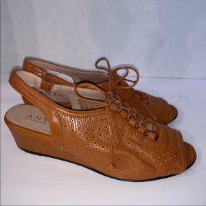 Anyi Lu Hand Made In Italy Lace-Up Wedges Size 36